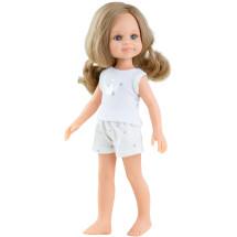 Кукла Клео, русая с локонами, в пижаме, 32 см