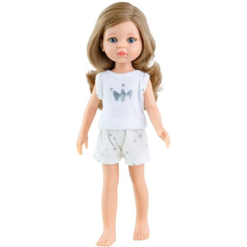 Кукла Карла, русая с локонами, в пижаме, 32 см