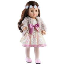 Кукла Soy Tu Эмили в пушистой кофточке с цветочным венком, 42 см