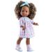 Кукла Soy Tu Амор в платье с сердечками с бирюзовой повязкой-бантом, 42 см