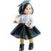 Кукла Soy Tu Бианка в черно-белом платье с клетчатой повязкой, 42 см