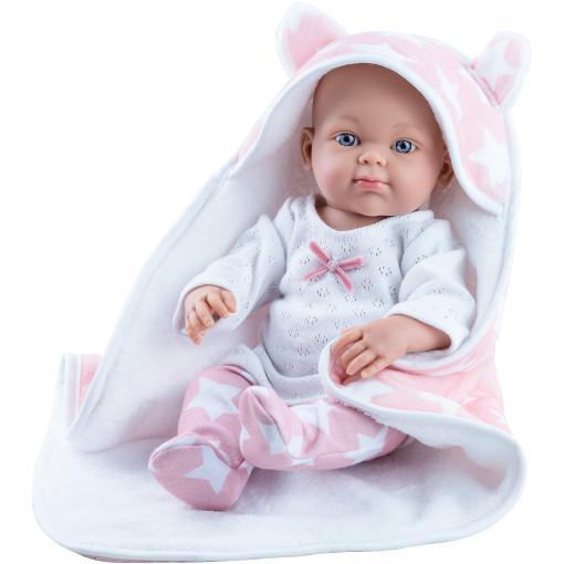 Кукла Бэби с розовой накидкой, 32 см, девочка
