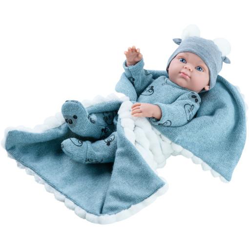 Кукла Бэби с серым одеялком, 32 см, мальчик