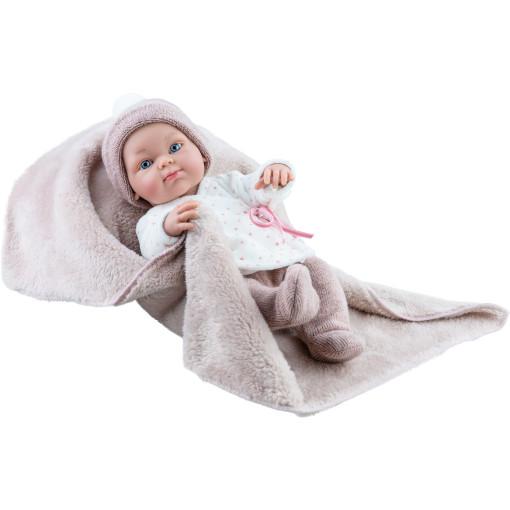 Кукла Бэби с коричневым одеялком, 32 см, мальчик