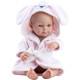 Кукла Бэби в розовом банном халате, 32 см, девочка