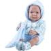 Кукла Бэби с голубым слюнявчиком, 36 см, мальчик