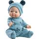 Пупс Горди Хон в синем комбинезоне и шапочке с ушками, 34 см