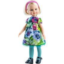 Цветочное платье, колготки и повязка для кукол 32 см