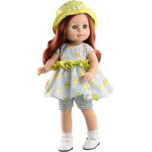 Летний наряд с желтой панамкой для кукол 42 см