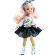 Наряд маленькой принцессы с полосатой повязкой для кукол 32 см