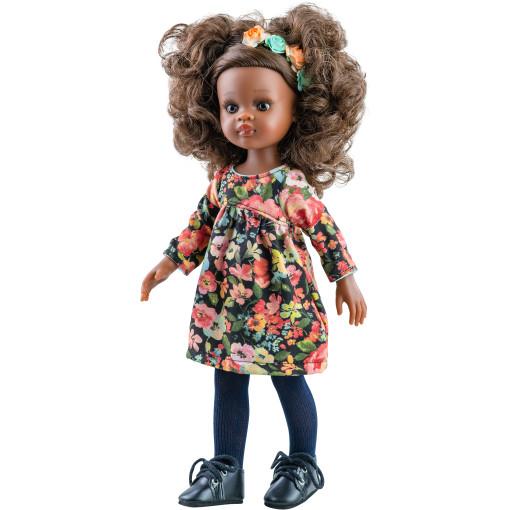Цветочное платье с венком и колготками для кукол 32 см