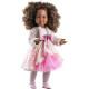 Пушистая кофточка, платье и колготки для шарнирных кукол 60 см