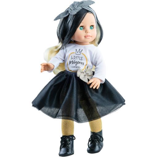 Наряд маленькой принцессы с полосатой повязкой для кукол 42 см