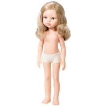Кукла Карла, блондинка с локонами, без одежды, 32 см