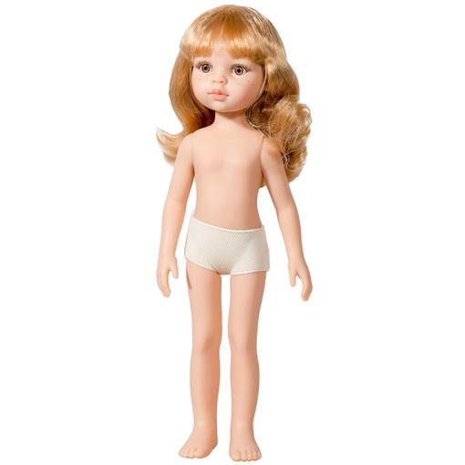 Кукла Даша, блондинка с локонами и челкой, без одежды, 32 см