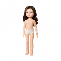 Кукла Кэрол, брюнетка с локонами, без одежды, 32 см