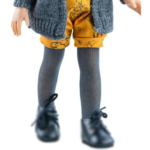 Колготки темно-серые для кукол 32 см