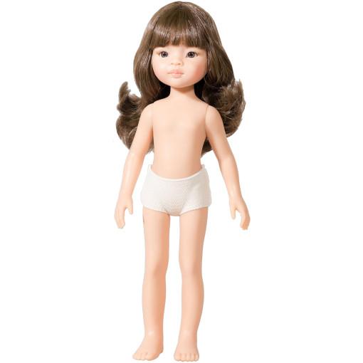 Кукла Мали, шатенка с локонами и челкой, без одежды, 32 см