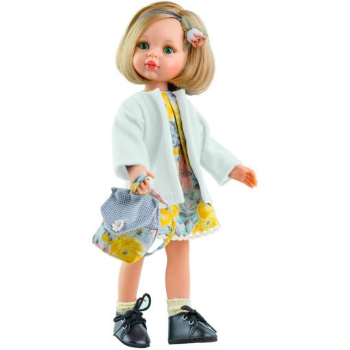 Цветочное платье с рюкзачком и тренчем для кукол 32 см