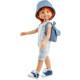 Кукла Крис в пляжном комбинезоне и синей панаме, 32 см