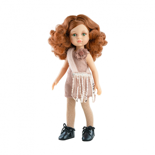 Кукла Кристи в розовом платье с сумочкой с пайетками, 32 см