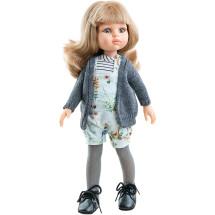 Кукла Карла в сером кардигане, 32 см