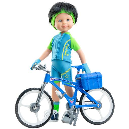 Кукла Кармело велосипедист, 32 см