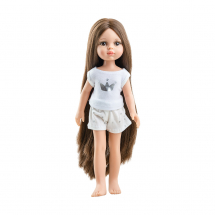 Кукла Кэрол, шатенка с длинными волосами, в пижаме, 32 см