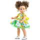 Кукла Soy Tu Эмили в цветочном платье с желтым поясом, 42 см