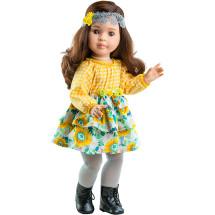 Кукла Лидия в желтом платье , шарнирная, 60 см
