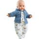 Кукла Алекс в белых ползунках и синей кофточке, 36 см, озвученная