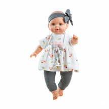 Кукла Соня в белом платье с серой повязкой, 36 см, озвученная