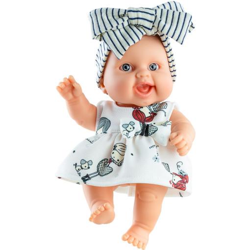 Кукла-пупс Берта с бантом, 22 см