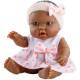 Кукла-пупс Эбэ в розовой повязке, 22 см, мулатка