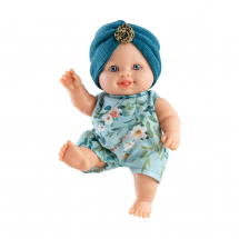 Кукла-пупс Сара в синей повязке, 22 см