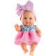 Кукла-пупс Ирина с розовым бантом, 22 см