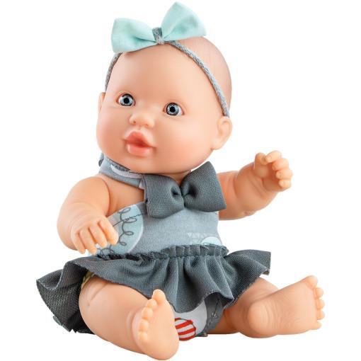 Кукла-пупс Грета с голубым бантом, 22 см