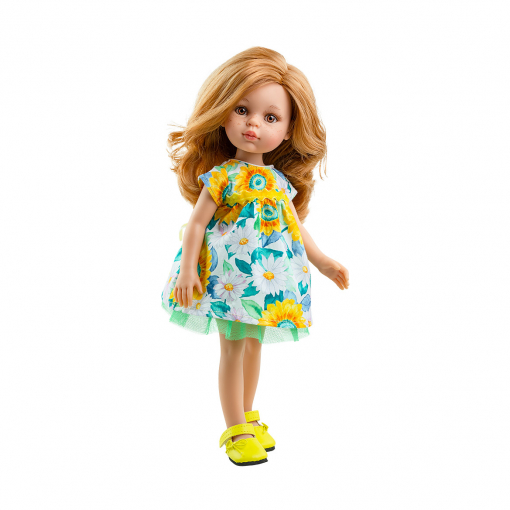 Цветочное платье для кукол 32 см