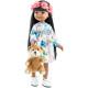 Платье, венок из цветов и медвежонок для кукол 32 см