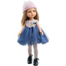 Платье с пышной юбкой, шапочка и колготки для кукол 32 см