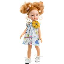 Платье с желтым цветком для кукол 32 см