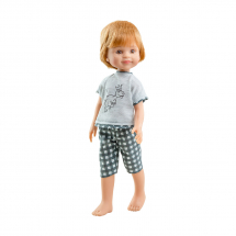 Пижама с динозавром для кукол 32 см