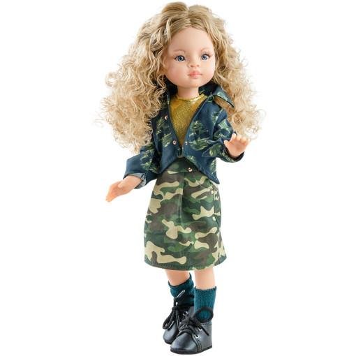 Камуфляжное платье, ветровка и носочки для шарнирных кукол 32 см