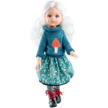 Свитер с мухомором, юбка и колготки для шарнирных кукол 32 см