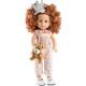Розовый комбинезон, повязка-корона и медвежонок для кукол 42 см