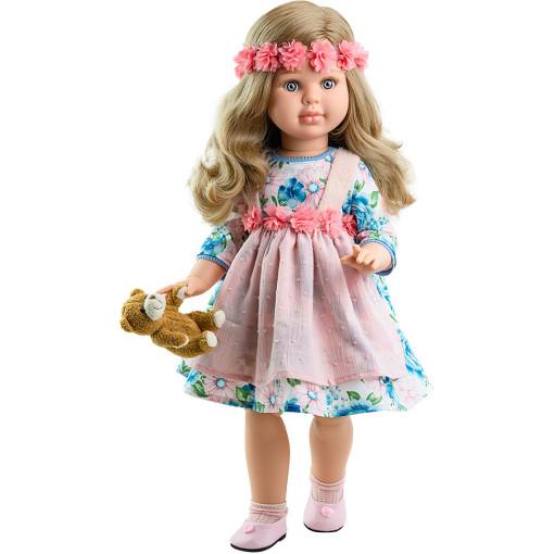 Платье, цветочный венок, носочки и медвежонок для кукол 60 см