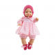 Розовый костюмчик, чепчик и носочки для пупсов 36 см