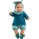 Синий костюмчик, повязка и носочки для пупсов 36 см