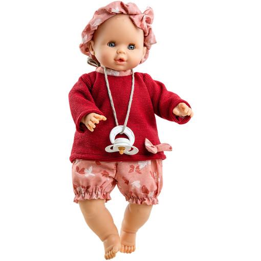 Красный костюмчик и повязка для озвученных пупсов 32 см