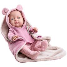 Розовый костюмчик с одеялом для куклы Бэби, 45 см